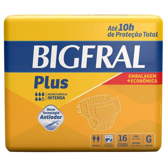 Fralda Geriátricas Bigfral Plus Tamanho G com 16 Unidades