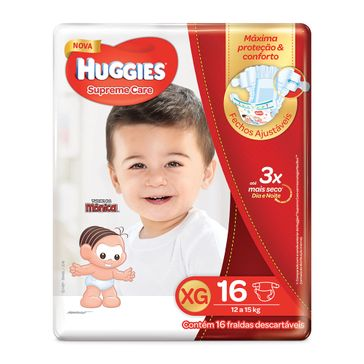 Fralda HUGGIES Supreme Care XG - 16 Fraldas