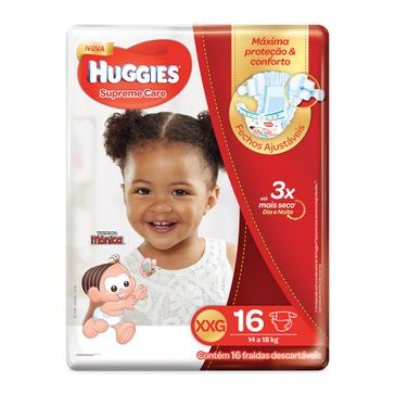 Fralda HUGGIES Supreme Care XXG - 16 Fraldas