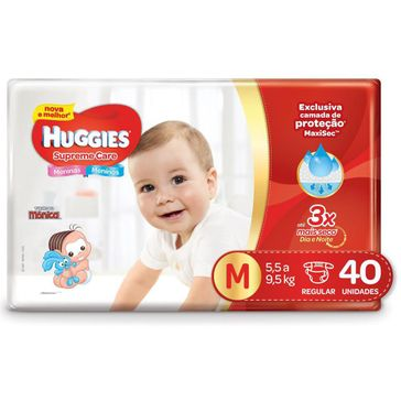 Fralda HUGGIES Supreme Care M - 40 Fraldas