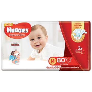 Fralda HUGGIES Supreme Care M - 80 Fraldas