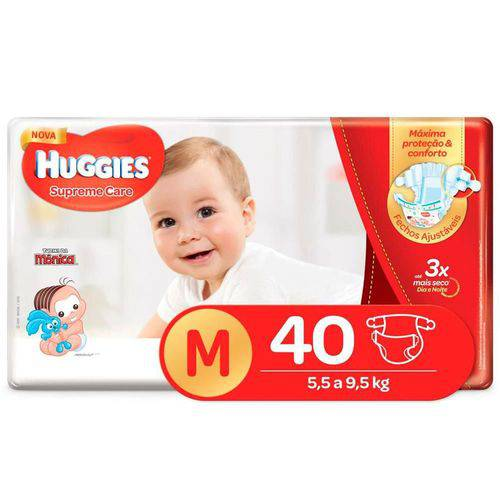 Fralda Huggies Supreme Care M C/40