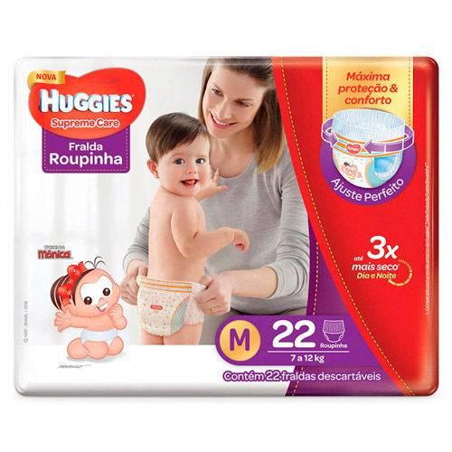 Fralda Huggies Supreme Care Roupinha Jumbo M 22 Unidades