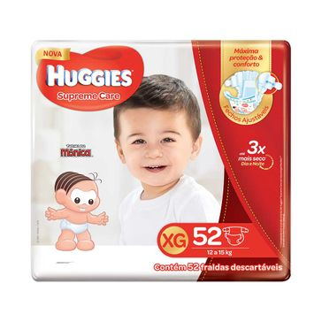 Fralda HUGGIES Supreme Care XG - 52 Fraldas