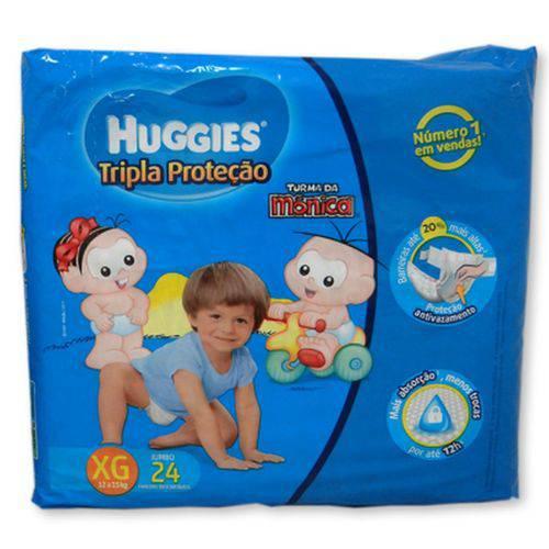 Fralda Huggies Turma da Monica Tripla Proteao Tamanho Extra Grande - 24 Unid