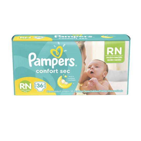 Fralda Infantil Pampers Confort Sec Rn 36 Unidades