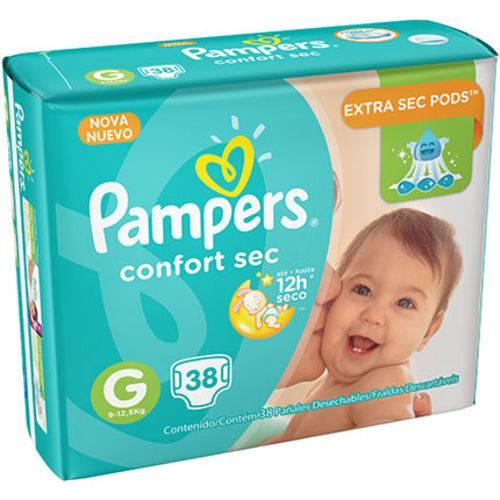 Fralda Pampers Confort Sec M com 38 Tiras