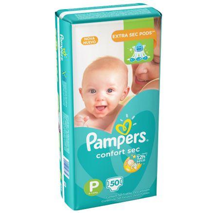 Fralda Pampers Confort Sec P 50 Unidades