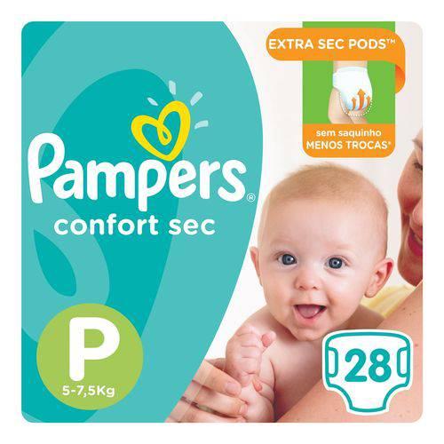 Fralda Pampers Confort Sec Tam P 28 Unids - 5 a 7,5Kg