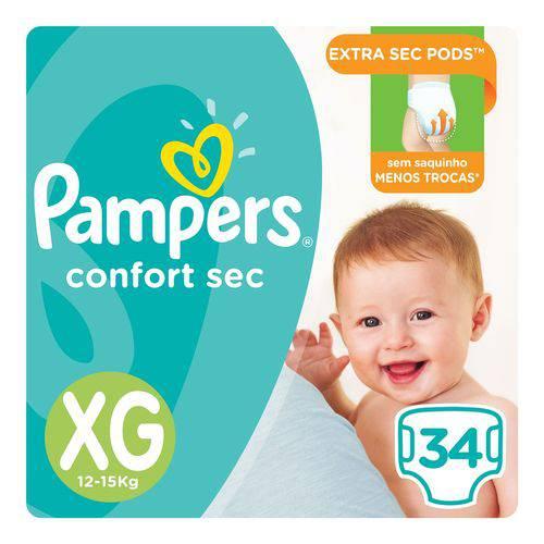 Fralda Pampers Confort Sec Tam XG 34 Unids - 12 a 15kg