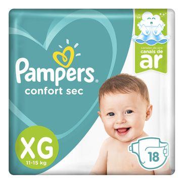 Fralda Pampers Confort Sec XG 18 Unidades
