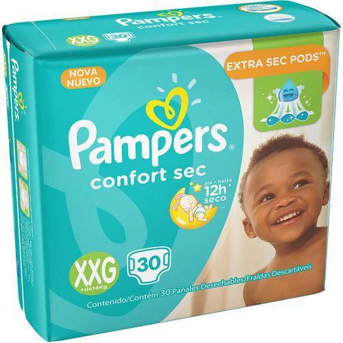Fralda Pampers Confort Sec Xxg 30UN