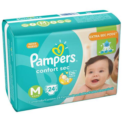 Fralda Pampers Confortsec Pacotão M