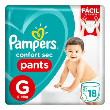 Fralda Pampers Confortsec Pants Pacotão G 18 Unidades