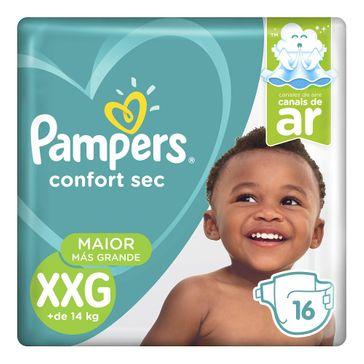 Fralda Pampers Confort Sec XXG 16 Unidades