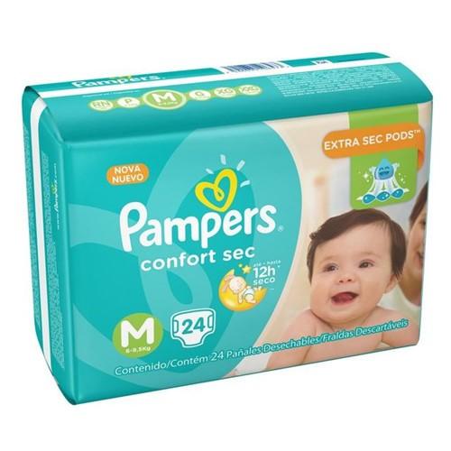 Fralda Pampers Pacotão Confort Sec Tamanho M 24 Unidades DIVERSOS