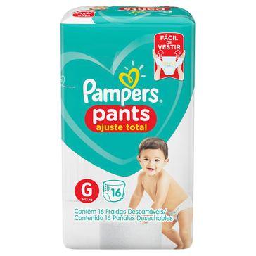 Fralda Pampers Pants Ajuste Total Tamanho G 16 Unidades