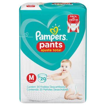 Fralda Pampers Pants Ajuste Total Tamanho M 20 Unidades