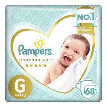 Fralda Pampers Premium Care G 68 Tiras