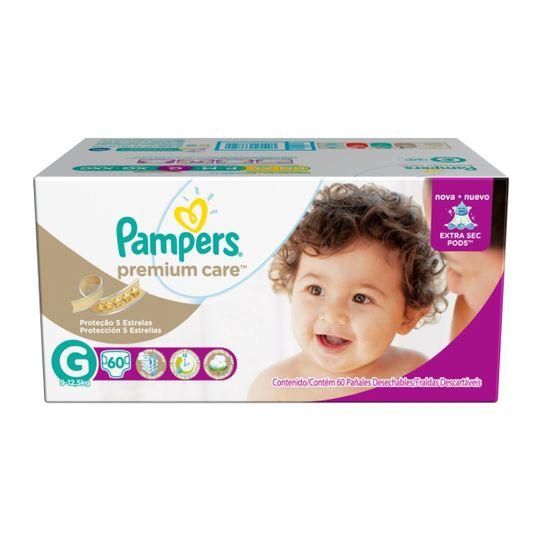 Fralda Pampers Premium Care Hiper Tamanho G com 60 Unidades