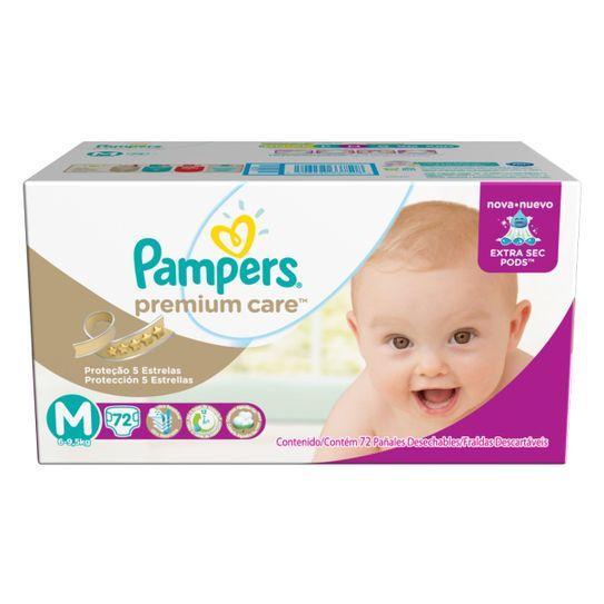 Fralda Pampers Premium Care Hiper Tamanho M com 72 Unidades