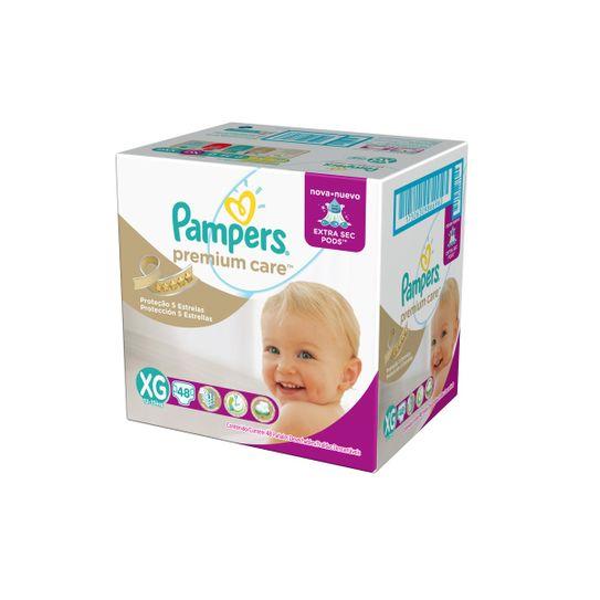 Fralda Pampers Premium Care Hiper Tamanho Xg com 48 Unidades