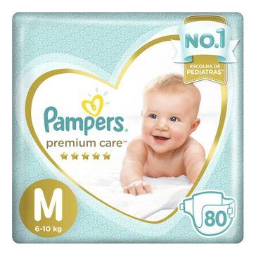 Fralda Pampers Premium Care M 80 Tiras
