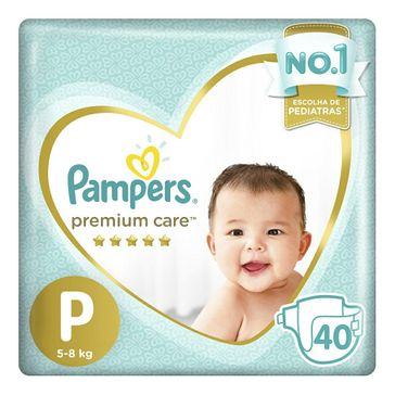 Fralda Pampers Premium Care P 40 Unidades