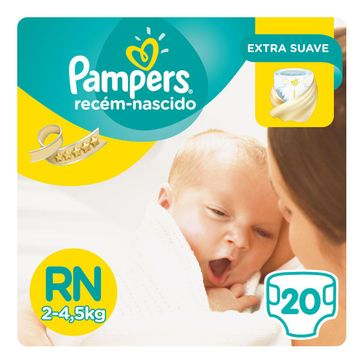 Fralda Pampers Recém-nascido 20 Unidades