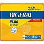 Fraldas Descartáveis Bigfral Plus Incontinência Intensa M - 18 Unidades