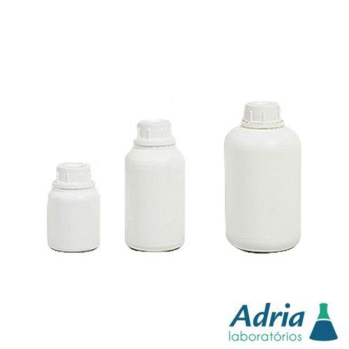 Frasco Plástico em Polietileno(pead) Redondo Linha Agro Branco Leitoso C/tampa Rosca Lacre 250ml