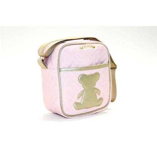 Frasqueira Bebê Térmica Matelassê Rosa - Térmica para Mamadeira Matelassê Rosa - LiliBag
