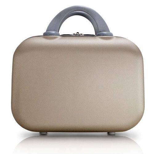 Frasqueira Love Viagem ABS Dourado - Jacki Design - Jacki Design - Jacki Design