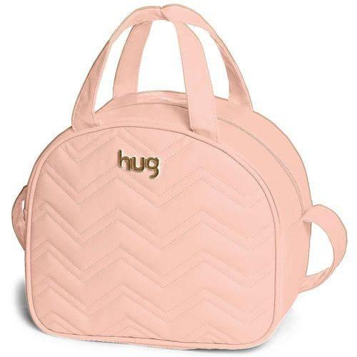 Frasqueira Maternidade com Alça Fixa Chevron M Rosa - Hug Baby