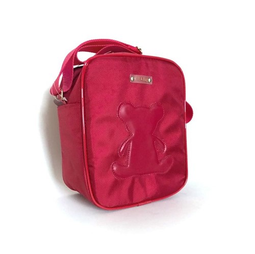 Frasqueira Térmica Nylon Vermelha Lili Bag - Bolsa Térmica para Mamadeira Nylon Vermelha Lili Bag - LiliBag