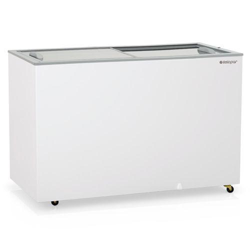 Freezer Horizontal Gelopar 411 Litros Dupla Ação Portas de Vidro GHDE-410 220V