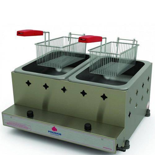 Fritadeira a Gás Progás 5L Inox com 2 Cestos PR-20G