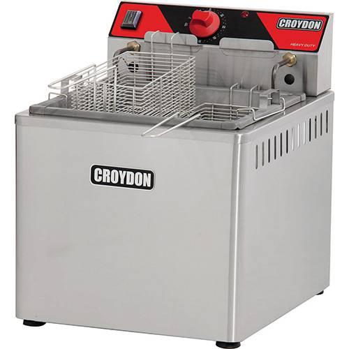 Fritadeira C/Filtro Agua, de Mesa C/2 Cestas - 23 Lts Oleo e 2 Agua - 5000W- Croydon 220V