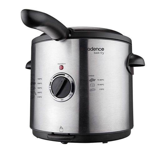 Fritadeira Elétrica Cadence Best Fry 1,5l Preto Frt201 220v