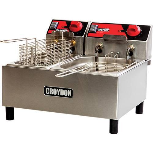 Fritadeira Elétrica Croydon F1AB 7,5 Litros Inox/Preto