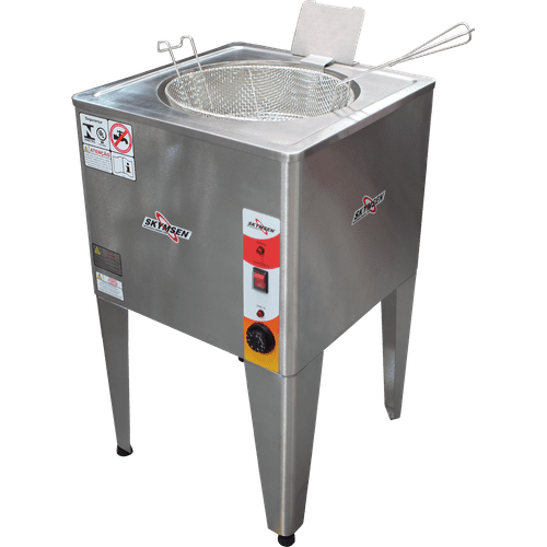 Fritadeira Elétrica de Piso, Água e Óleo Skymsen, Inox, 8000W - FRP24 - 220V
