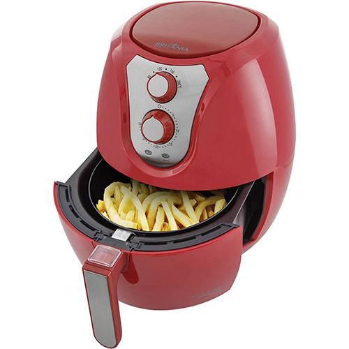Fritadeira Elétrica Sem Óleo - Air Fryer Britânia Pro Saúde 3,2 Litros Vermelha com Timer 127v