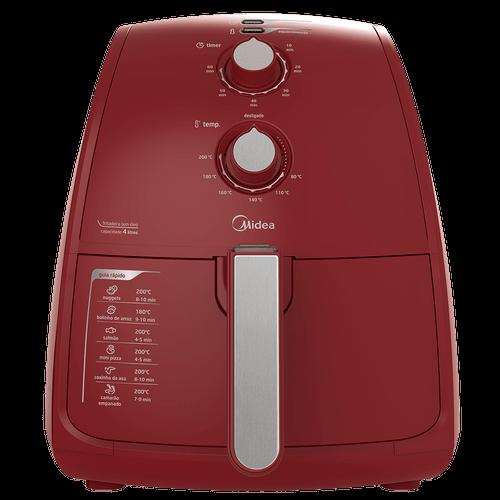 Fritadeira Elétrica Sem Óleo Midea, 4 Litros, 1500W, Vermelha - FRV42 - 220V