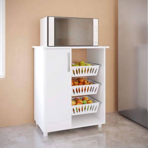 Fruteira 1 Porta 3 Cestos 0261 Genialflex Branco