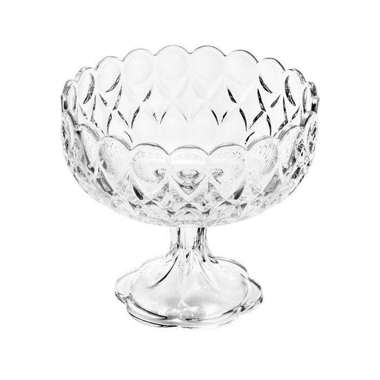 Fruteira de Cristal com Pé Angelica 22X22X19,8cm - 2,5Kg