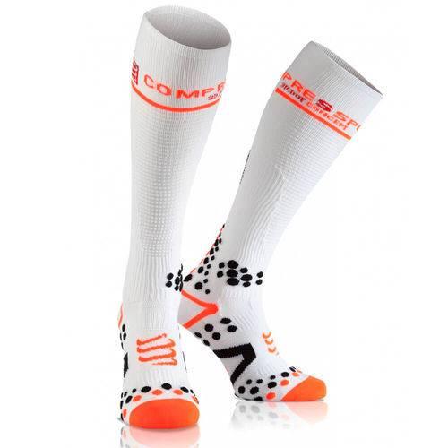 Full Socks V2.1 Compressport - Branca