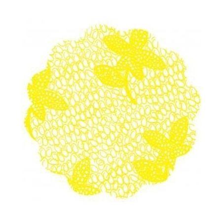 Fundo Rendado para Forminhas 7cm Amarelo - 95 Unidades