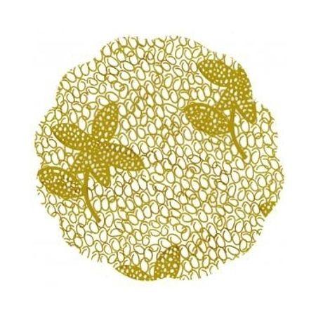 Fundo Rendado para Forminhas 7cm Dourado - 95 Unidades