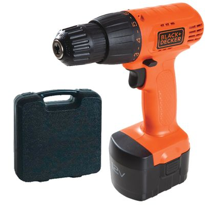 Furadeira/Parafusadeira Reversível à Bateria 12V Back & Decker CD121K-BR CD121K-BR