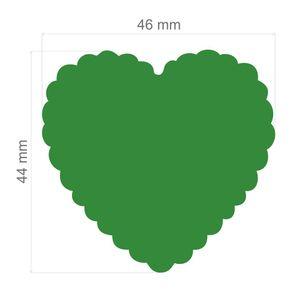 Furador Extra Gigante Escalope Corações Ref.9179-FEGA008 Toke e Crie